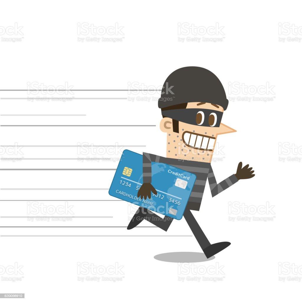 Thief vector art illustration