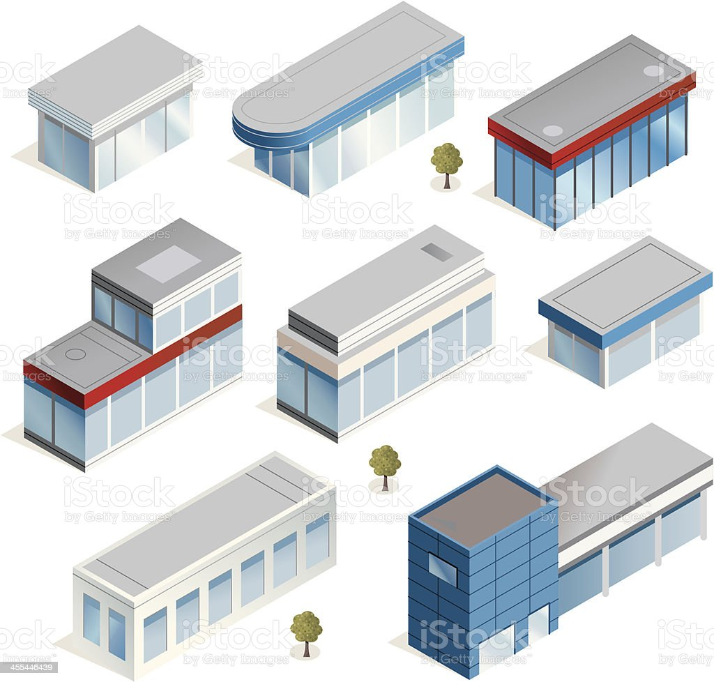 Thin Buildings royalty-free stock vector art