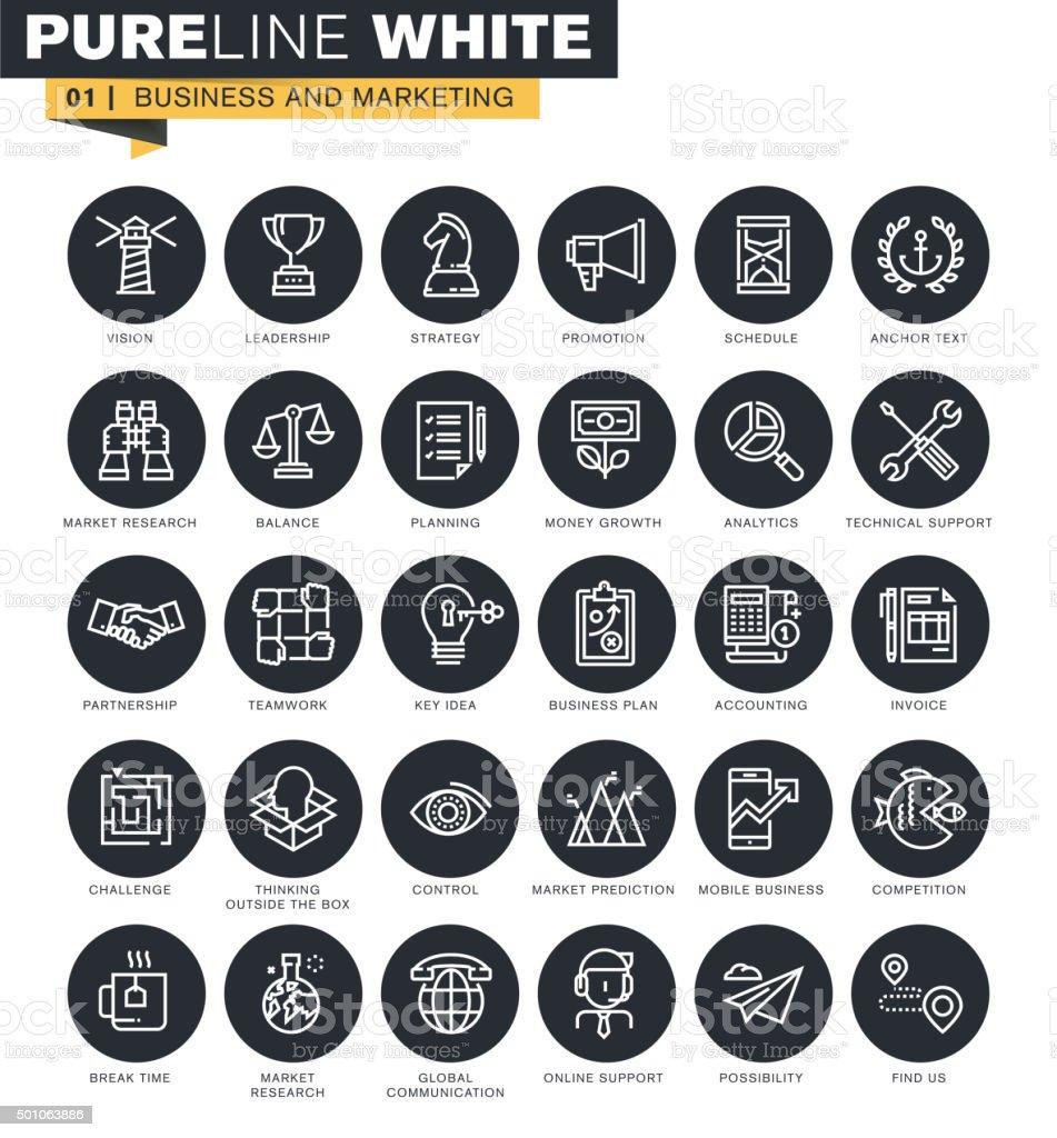 Línea fina colección de iconos de web illustracion libre de derechos libre de derechos