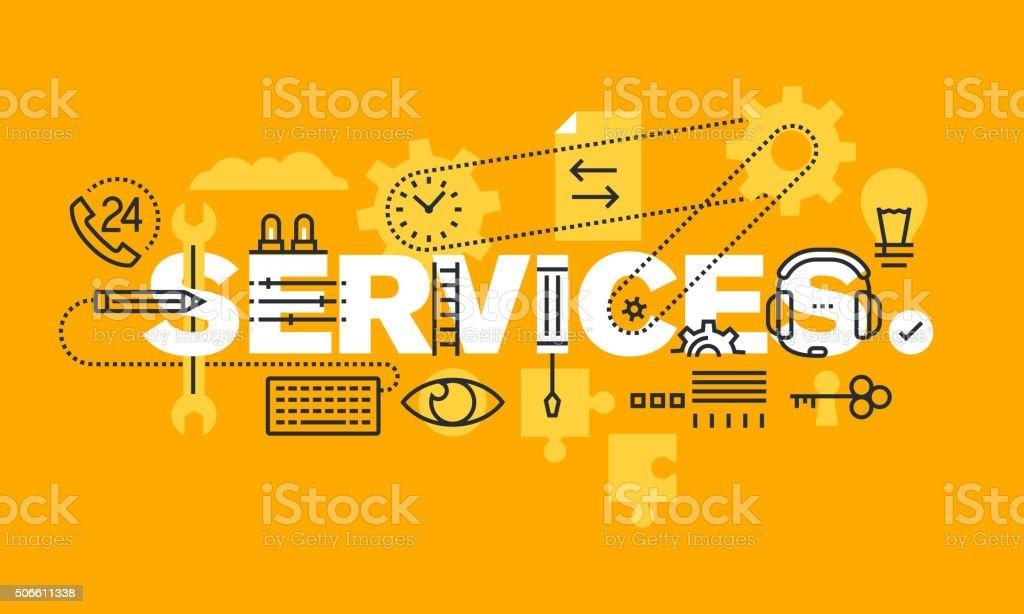 Bandera delgado línea diseño plano de negocio servicios illustracion libre de derechos libre de derechos
