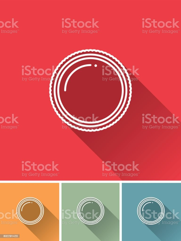 Thin Line Flat Design Photography Icon: Filter vector art illustration