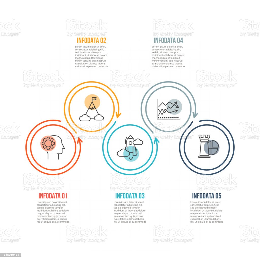Thin line flat element for infographic. vector art illustration