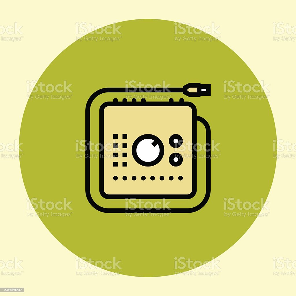 Thin Line Icon. Audio Interface. vector art illustration
