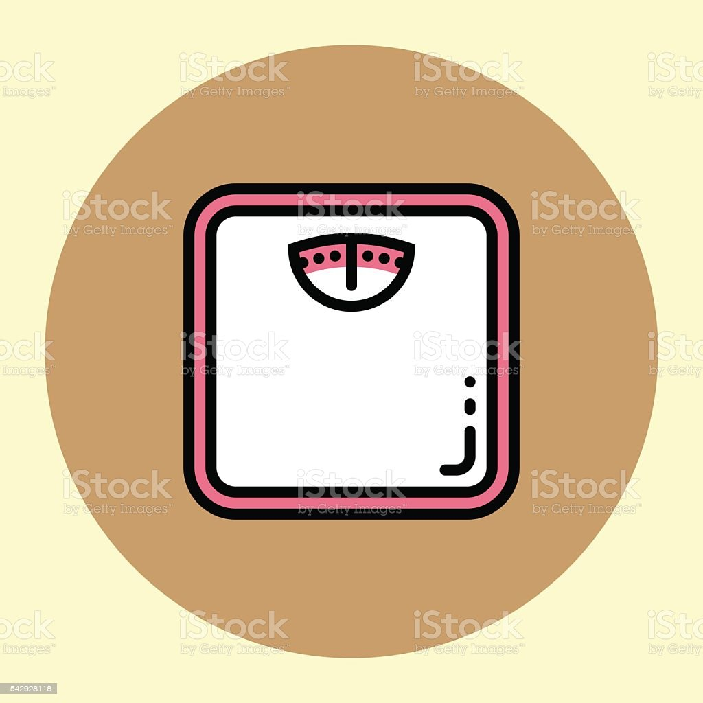 Thin Line Icon. Weight Meter. vector art illustration