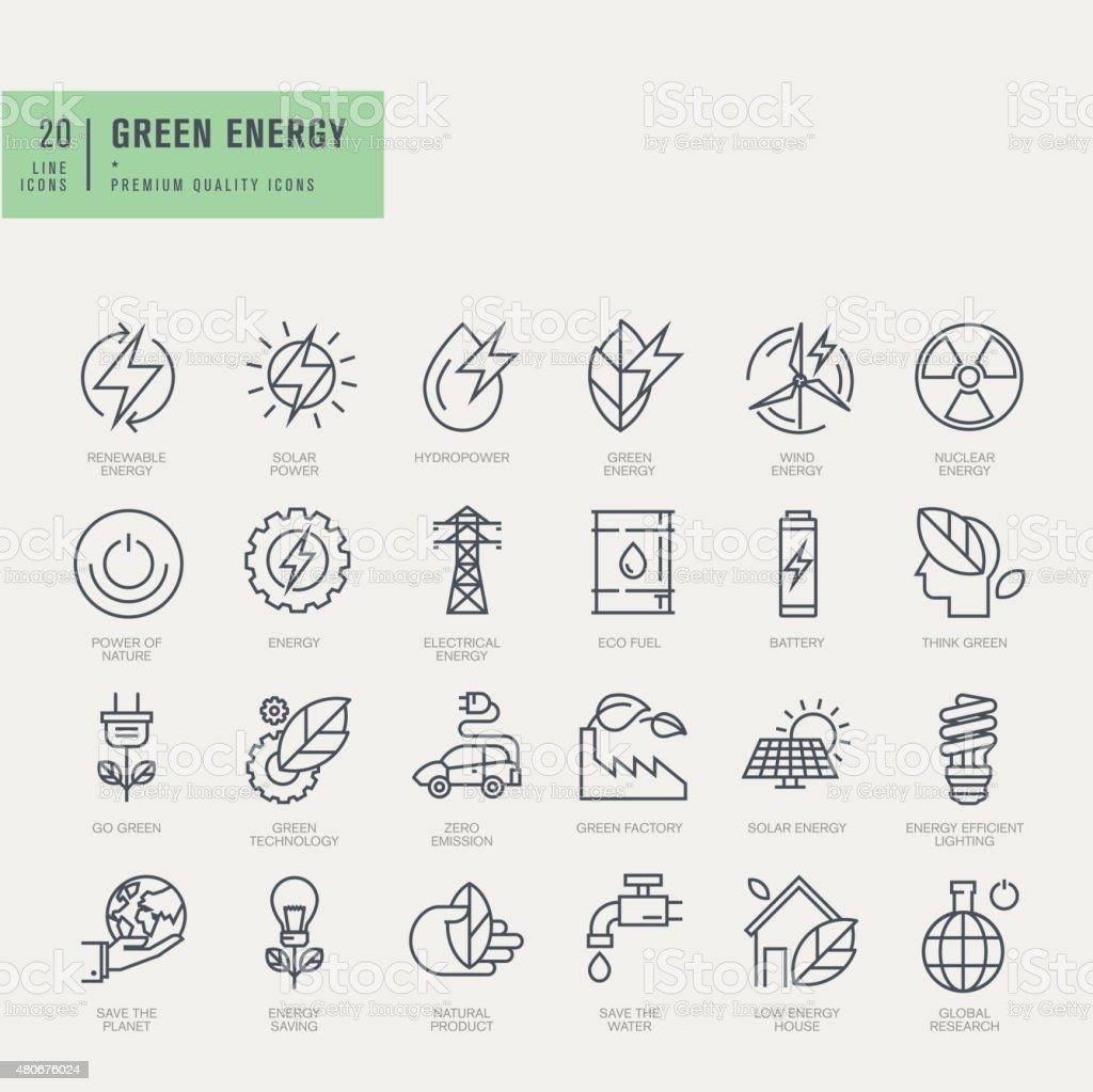 Thin line icons set vector art illustration