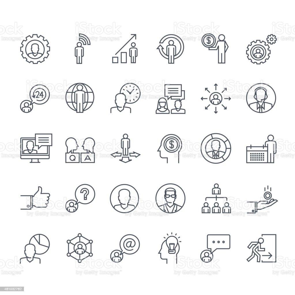 Conjunto de iconos de línea fina illustracion libre de derechos libre de derechos