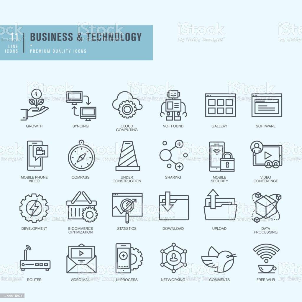 vector conjunto de iconos de línea fina illustracion libre de derechos libre de derechos