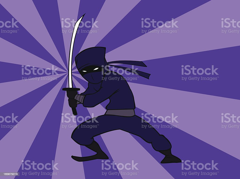 Thin Ninja royalty-free stock vector art