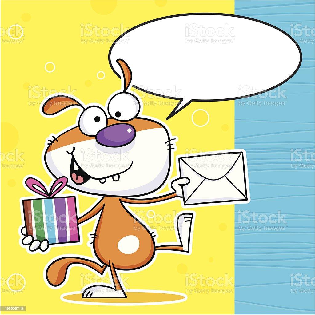 Thingy Dog Gift royalty-free stock vector art