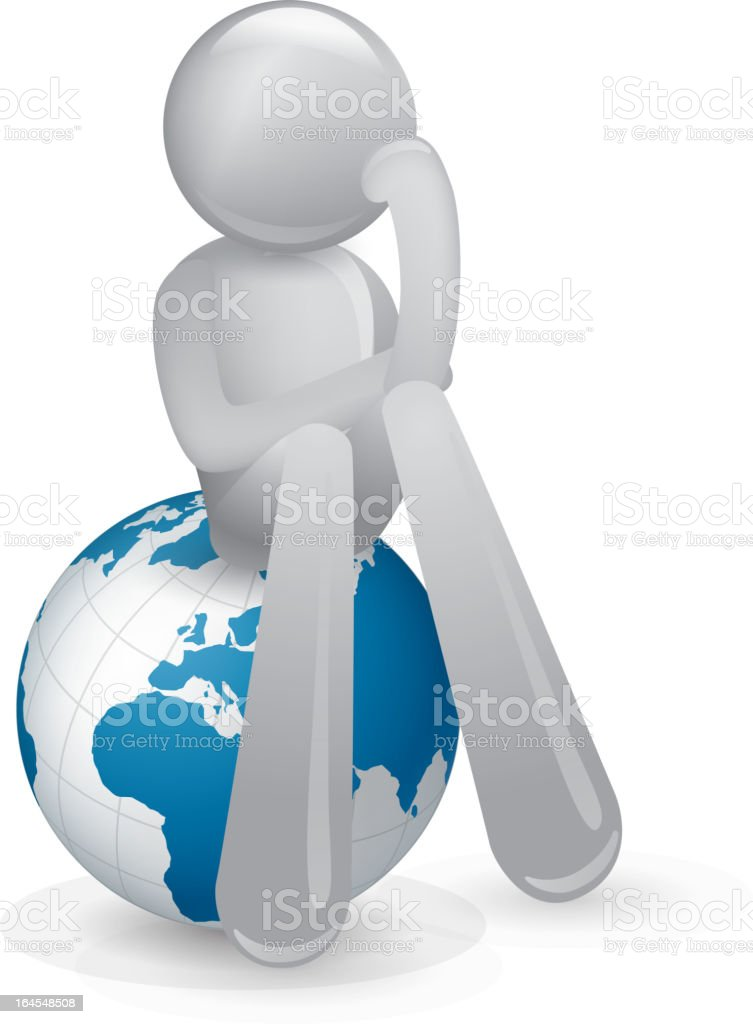 Think about the future of earth royalty-free stock vector art
