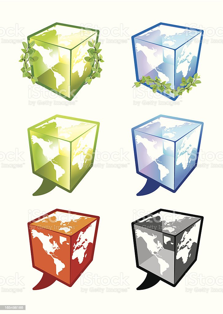 think and talk globally! royalty-free stock vector art