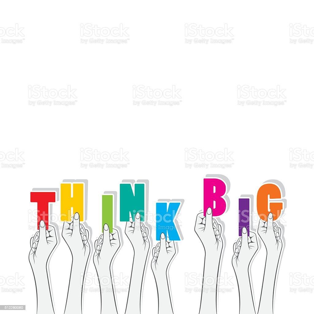 Think big text banner design stock vector art 512280080 - Text banner design ...