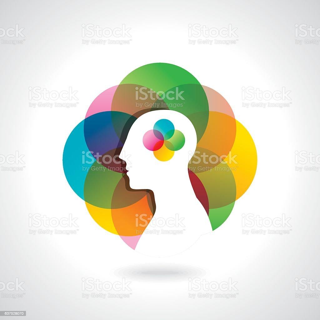 think business idea vector art illustration
