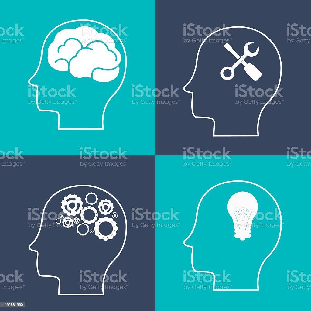Think different design vector art illustration