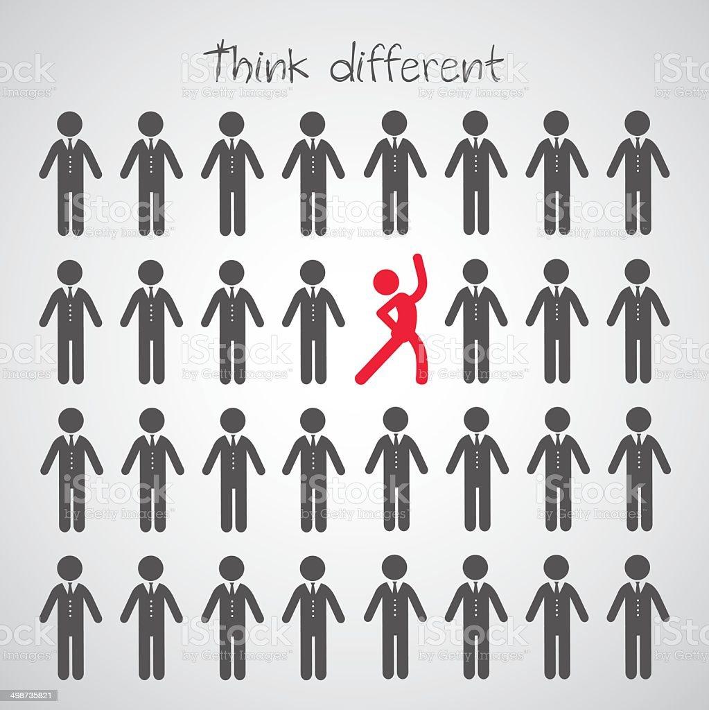 Think different symbol vector art illustration