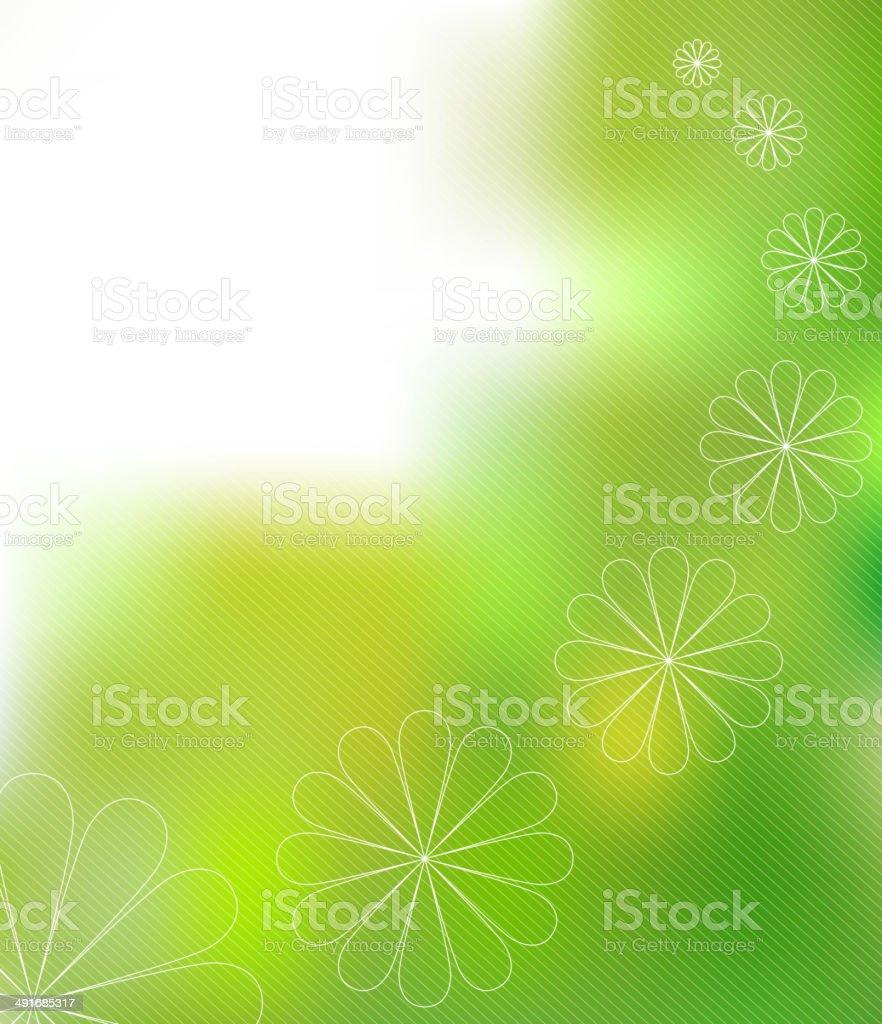 ¡Piense verde concepto: Medio ambiente y la naturaleza abstracta composición illustracion libre de derechos libre de derechos