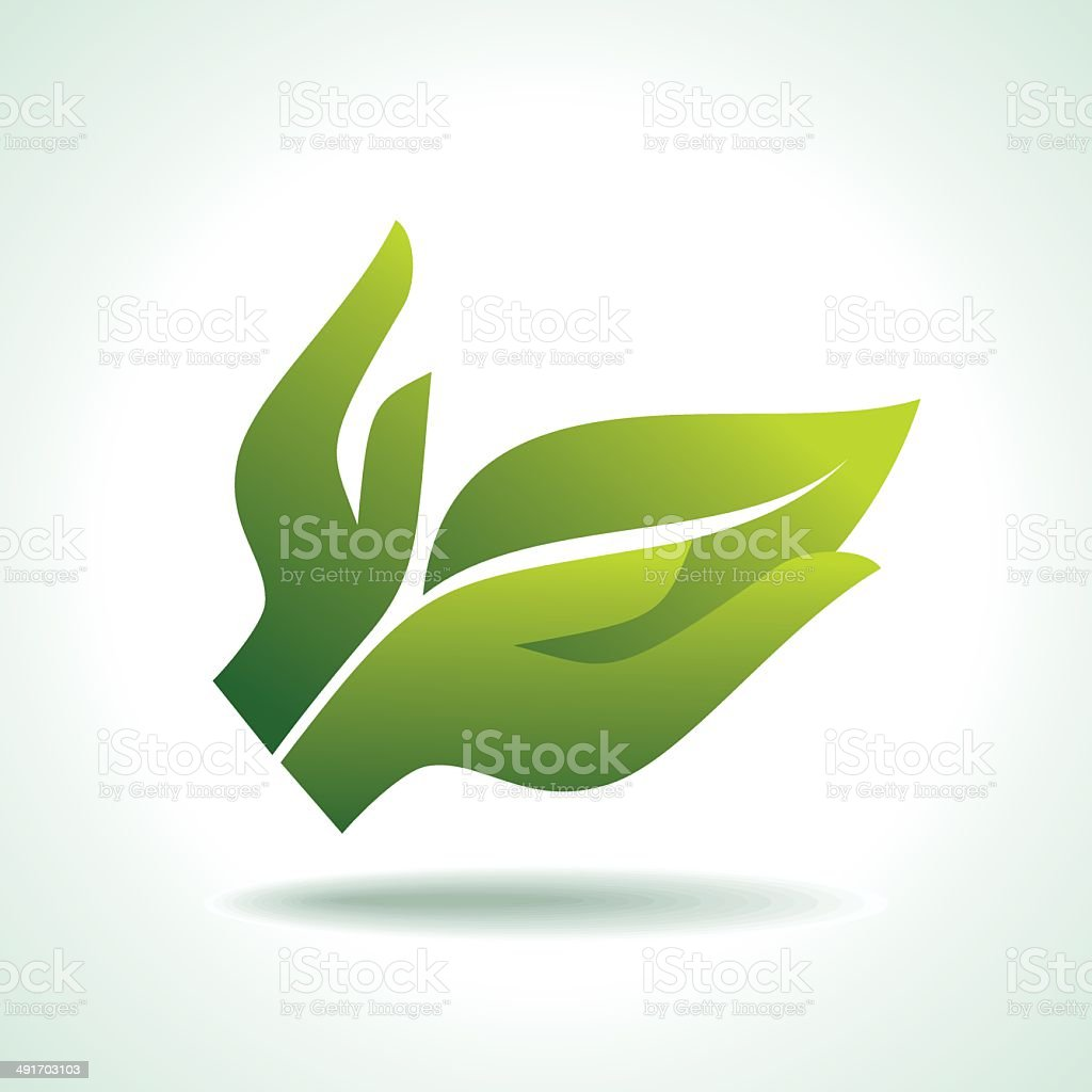 Think Green. Ecology royalty-free stock vector art