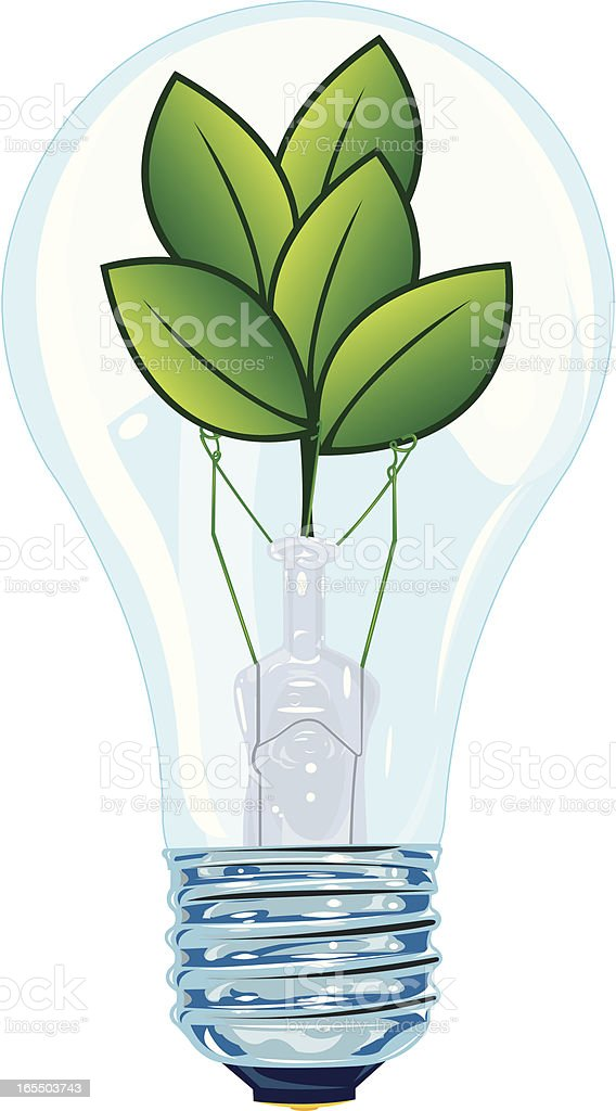 Think Green - Light Bulb royalty-free stock vector art