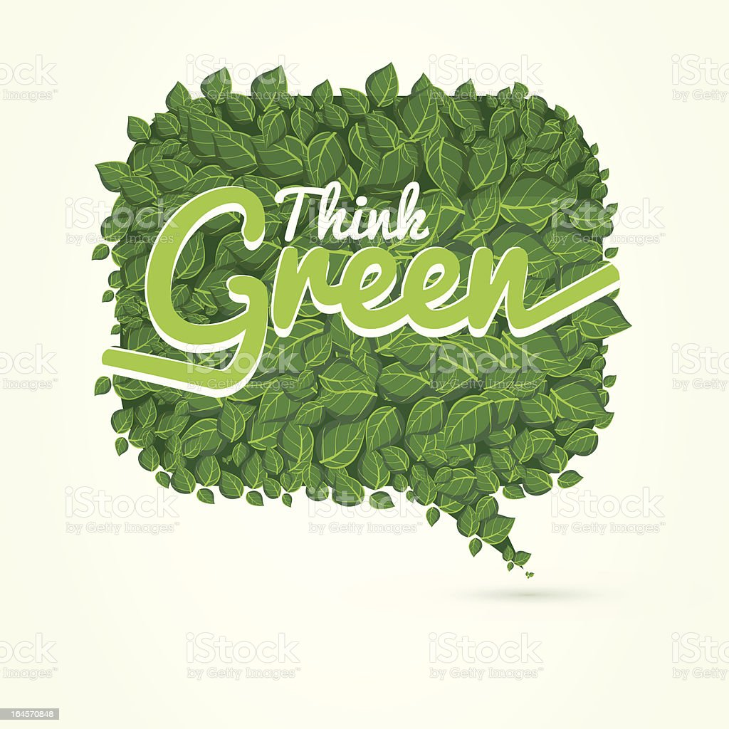 think green royalty-free stock vector art