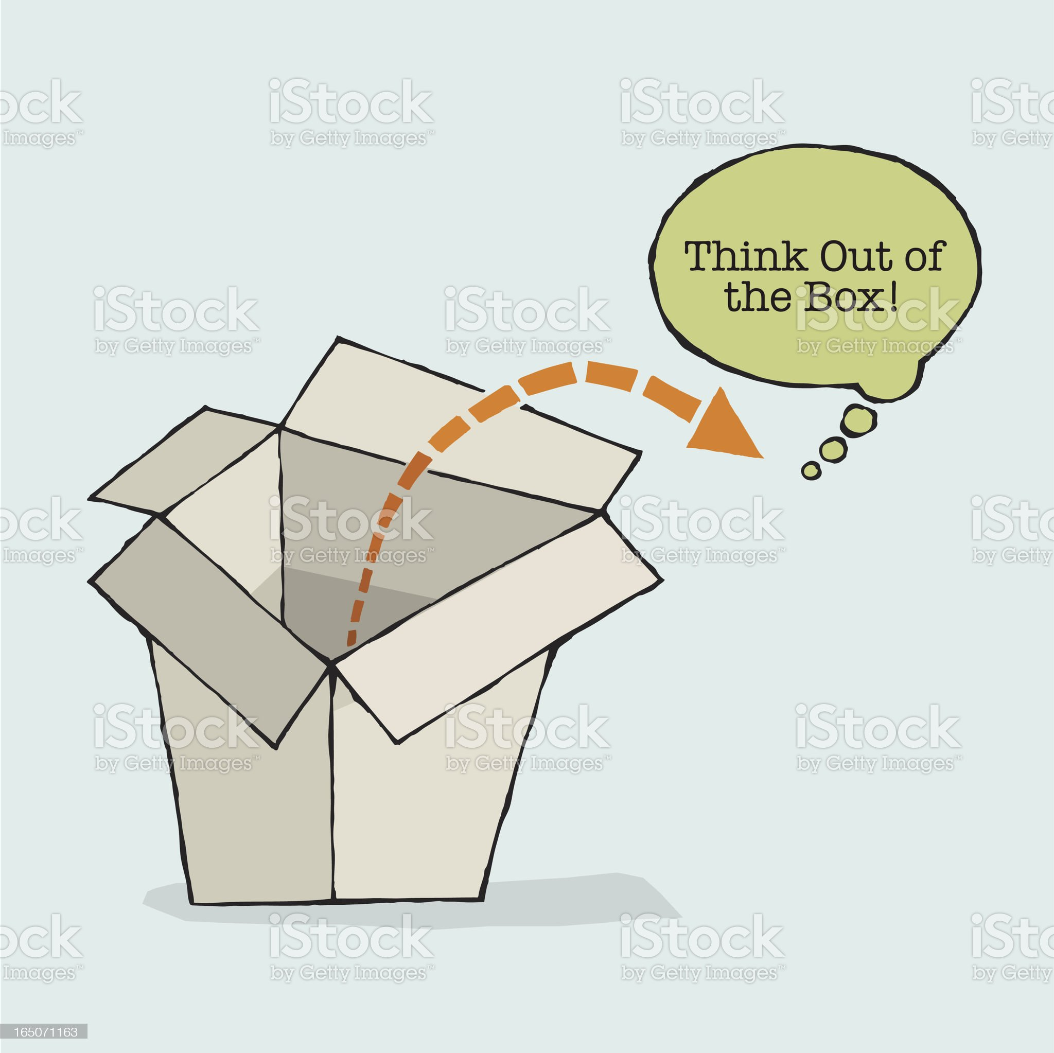 Think Out of the Box royalty-free stock vector art