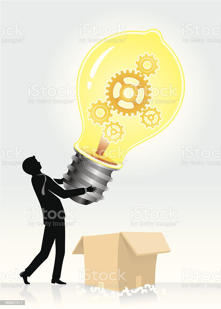Think Out of the Box vector art illustration