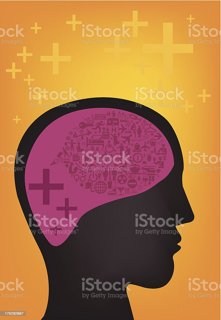Think Positive royalty-free stock vector art
