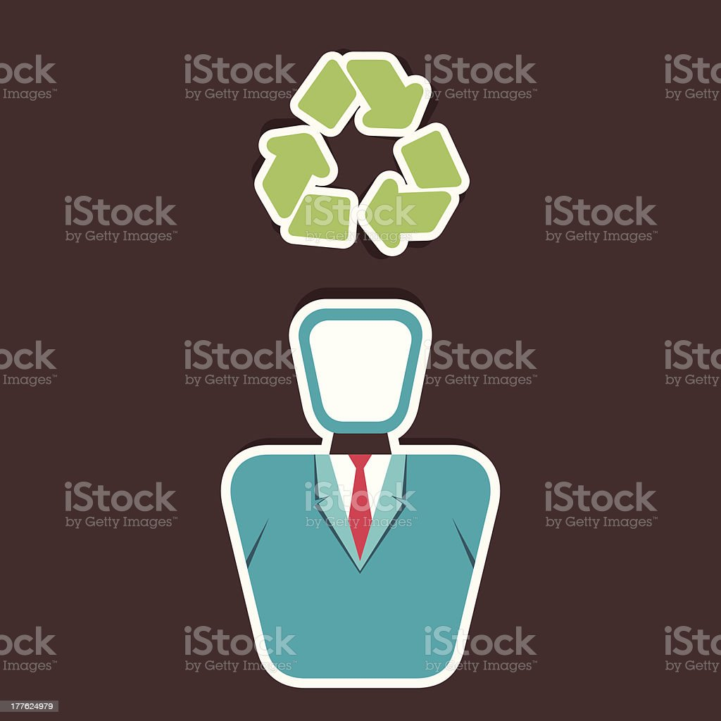 think recycle concept royalty-free stock vector art