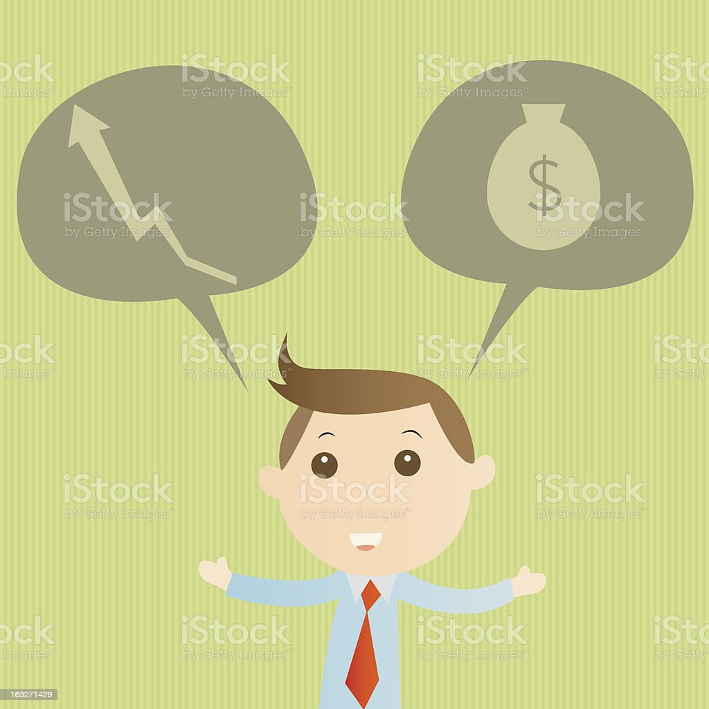 Think success royalty-free stock vector art