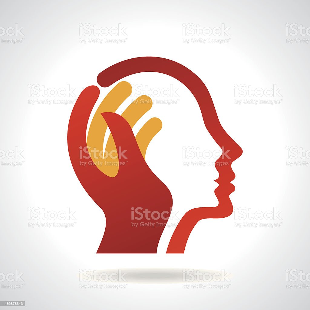 thinking a new idea vector art illustration