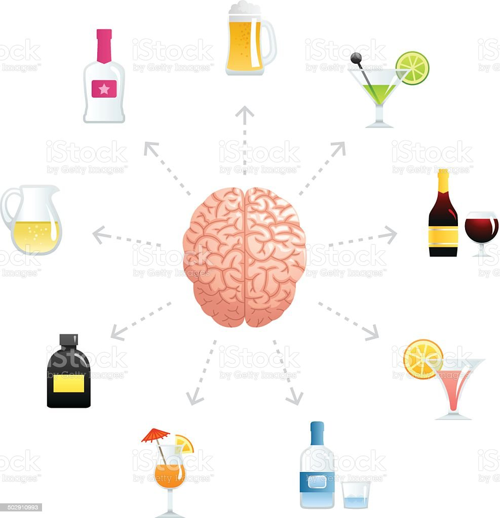 Thinking About Alcohol royalty-free stock vector art