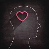 Thinking about love on Blackboard - Chalkboard