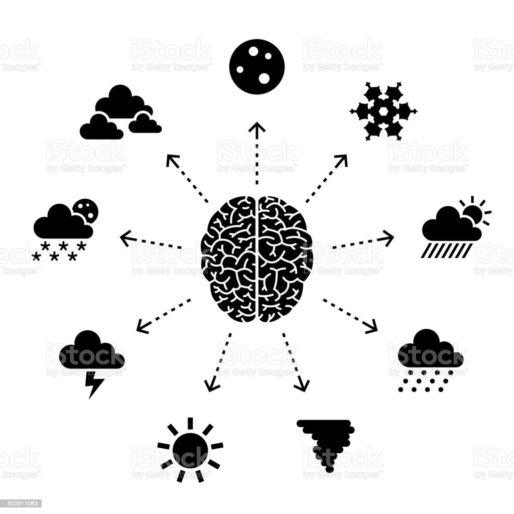 Thinking About The Weather royalty-free stock vector art