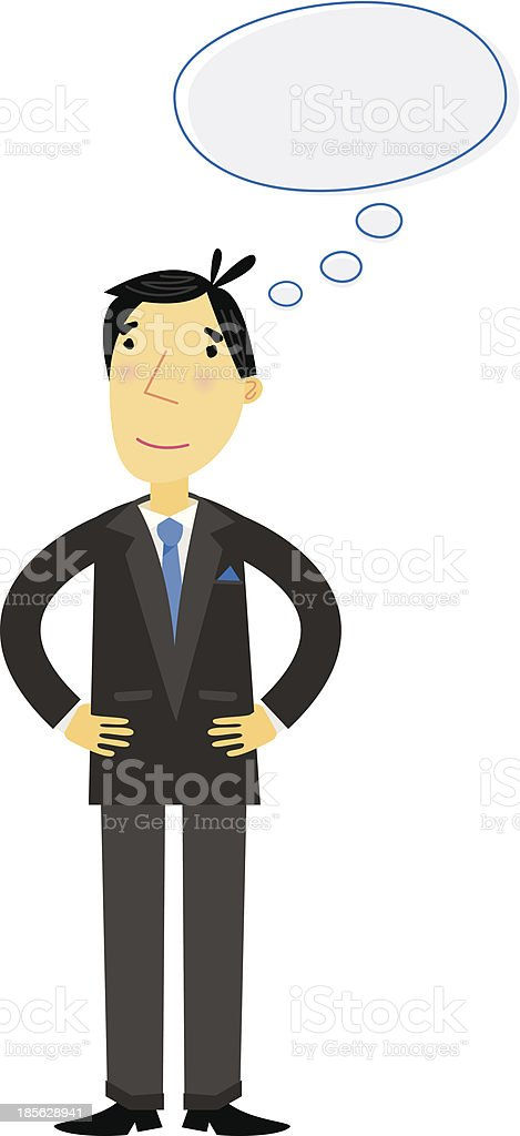 Thinking Businessman royalty-free stock vector art