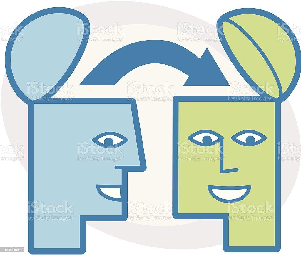 Thinking Heads royalty-free stock vector art