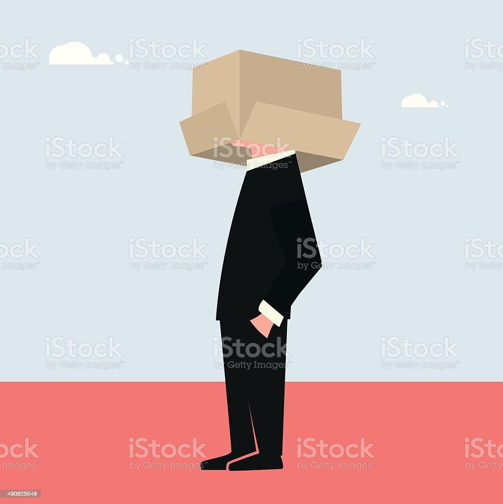 Thinking inside The Box vector art illustration