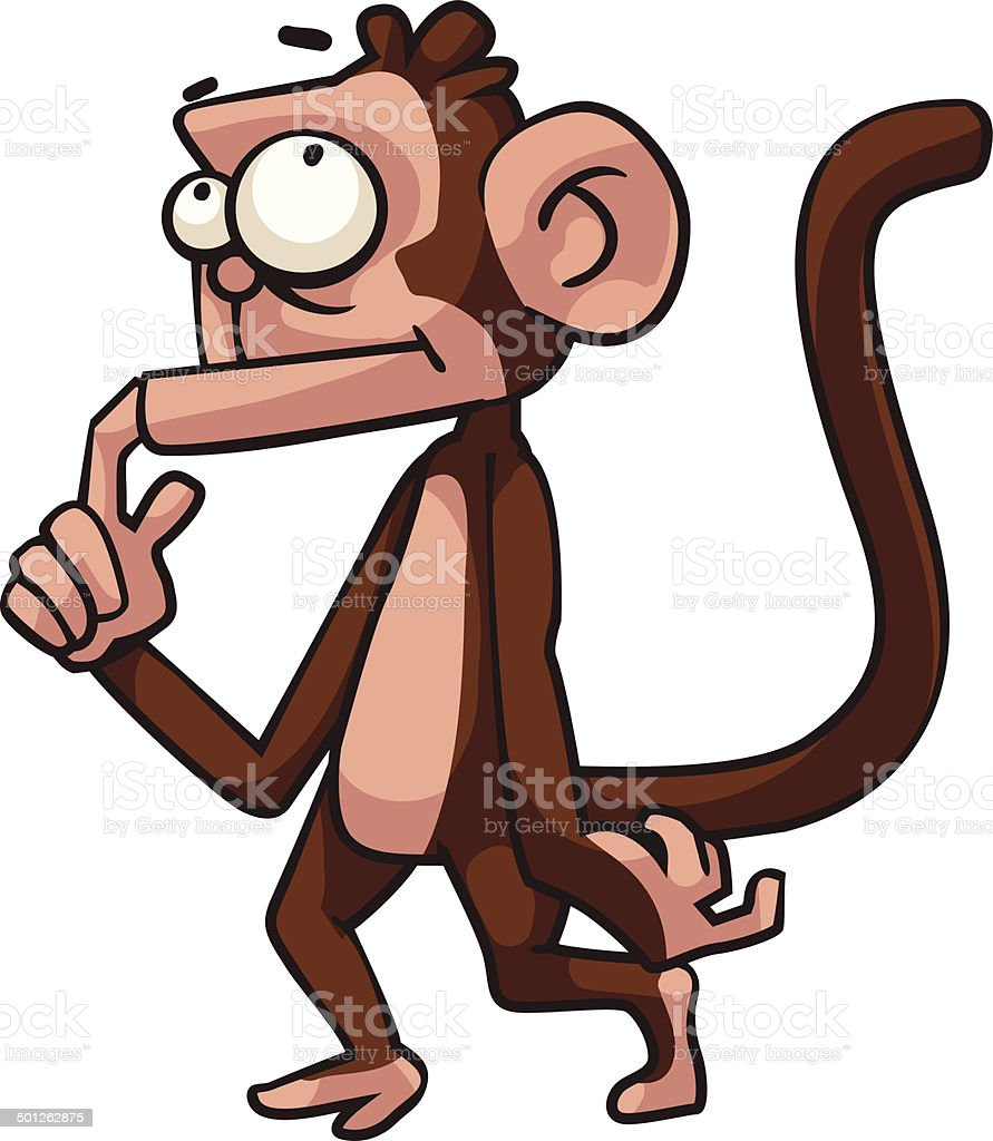 Thinking monkey royalty-free stock vector art