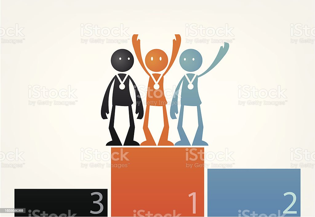 Thinking no difference in competition. royalty-free stock vector art