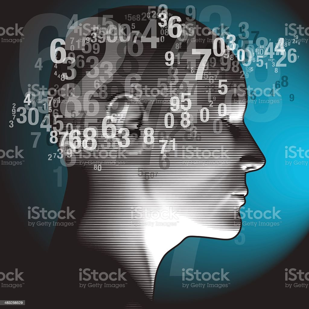 Thinking Numbers royalty-free stock vector art