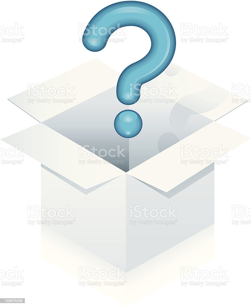 Thinking Outside the Box royalty-free stock vector art