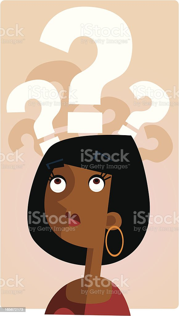 Thinking Woman royalty-free stock vector art