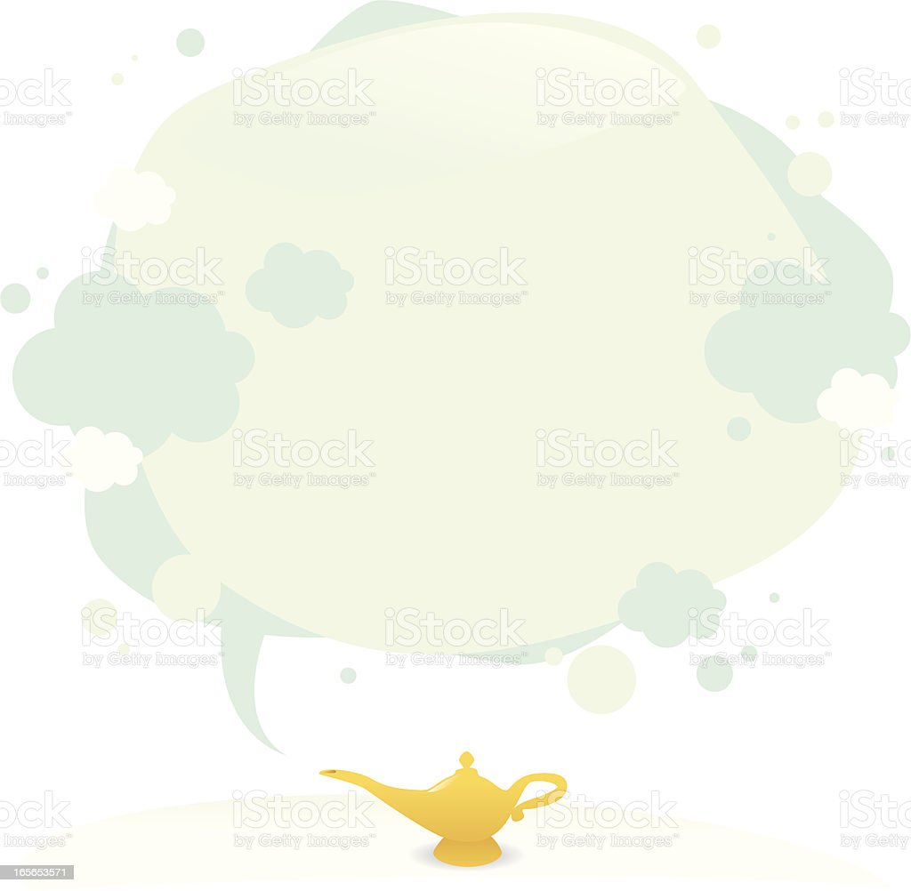 third wish of the lamp vector art illustration