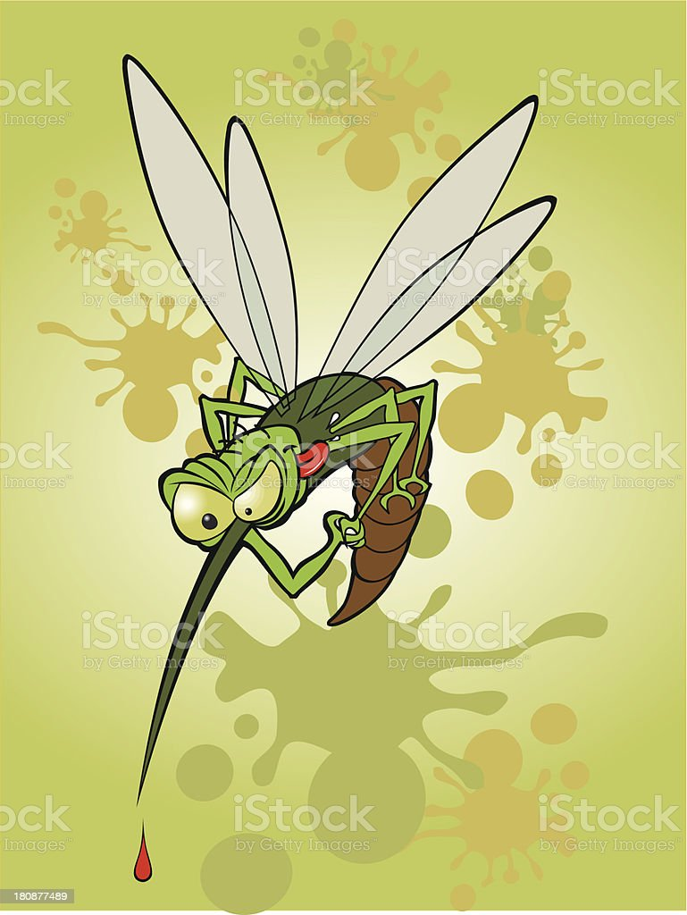 Mosquito sediento royalty-free stock vector art