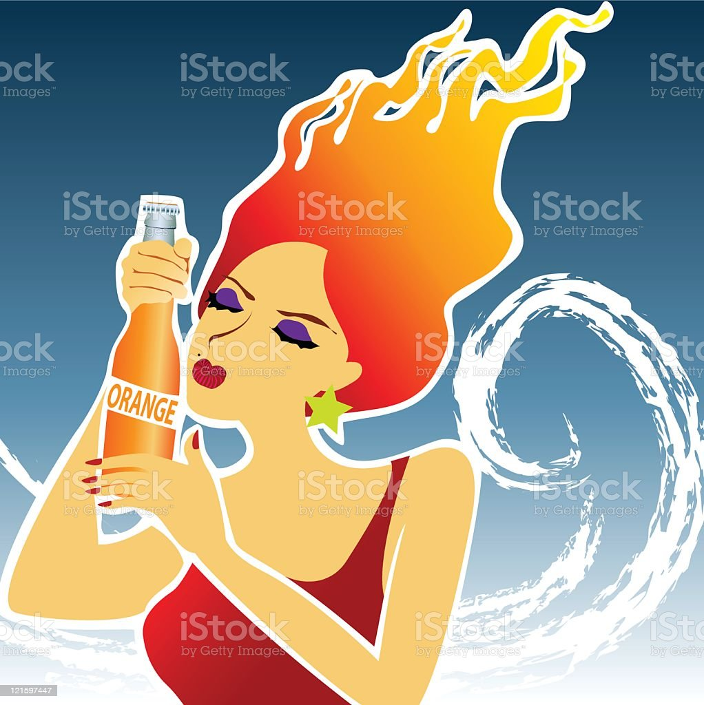 thirsty! royalty-free stock vector art