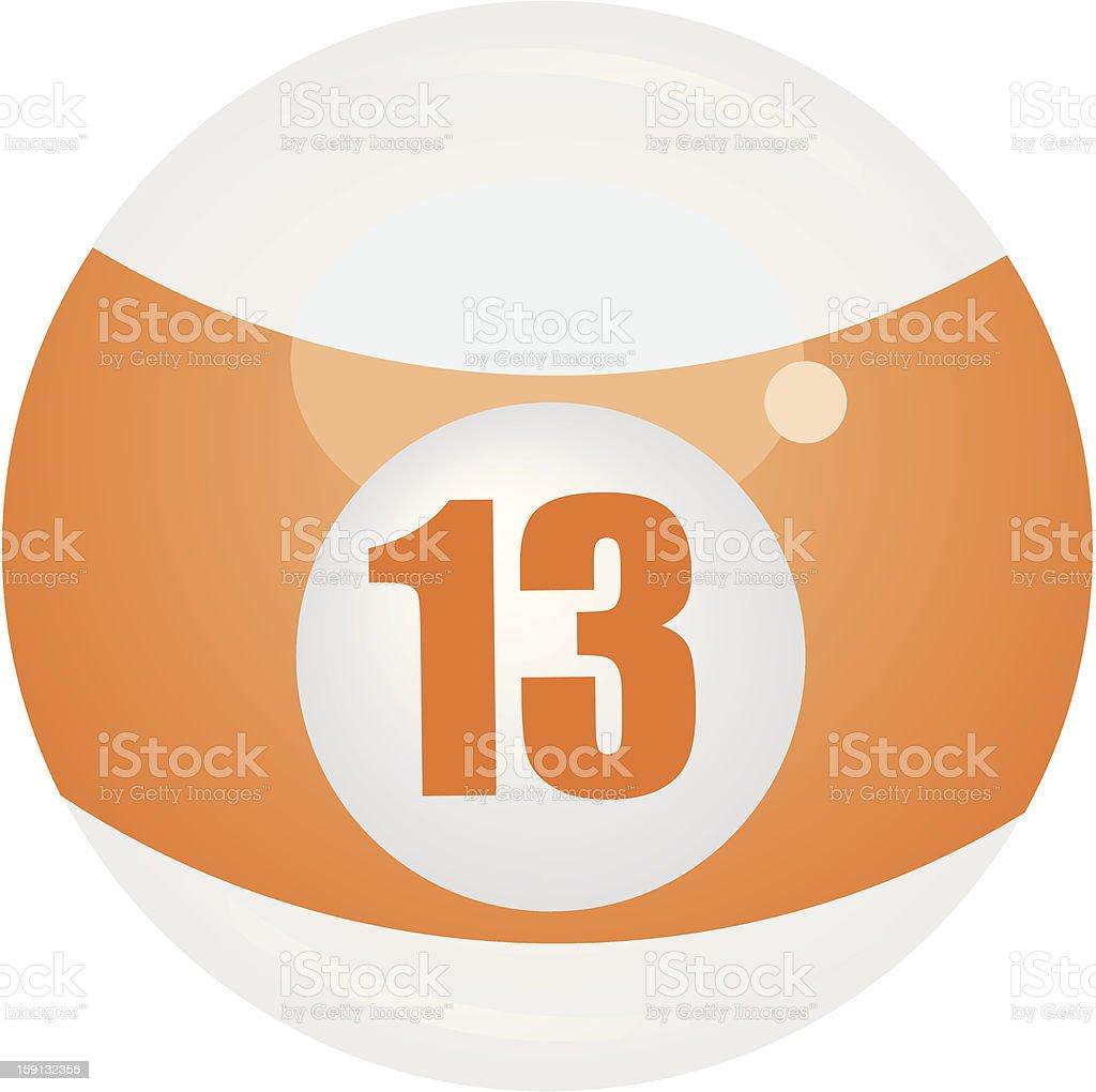 Thirteen Ball vector art illustration