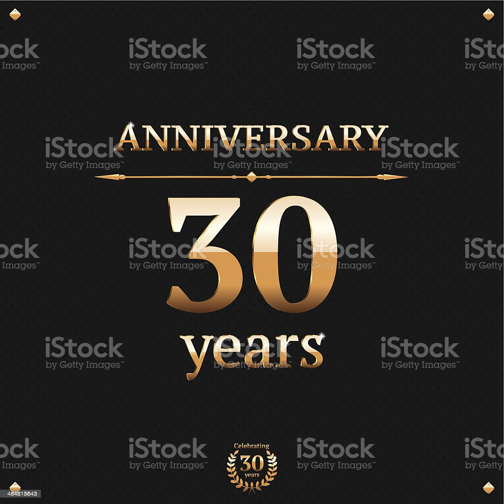 Thirty years anniversary card royalty-free stock vector art