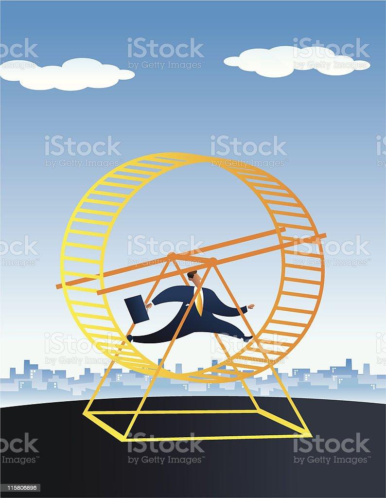 This Businessman doesn't progress. vector art illustration