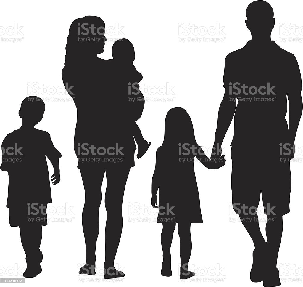 This Family Vector Silhouette vector art illustration