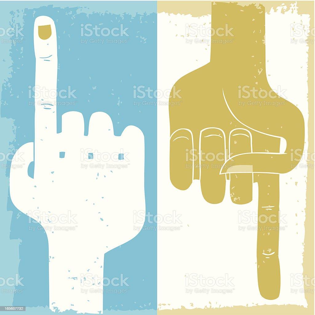 This way royalty-free stock vector art