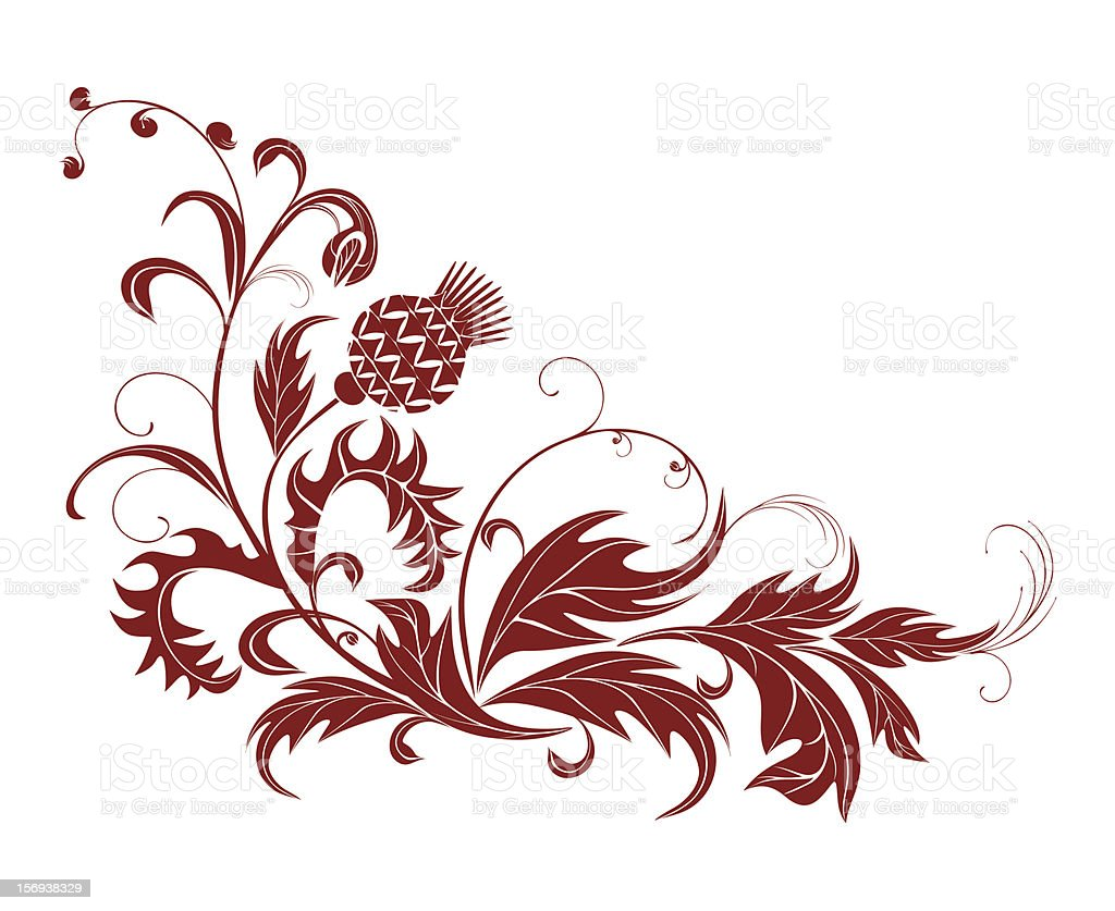 Thistle and wild plants royalty-free stock vector art