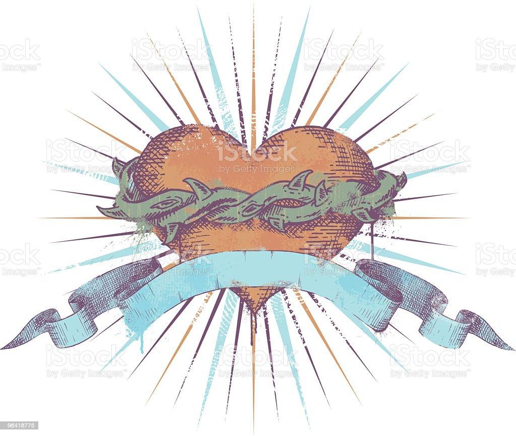 Thorny Heart vector art illustration